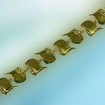 JET3509B 14kt Yellow Gold English Saddle Bracelet