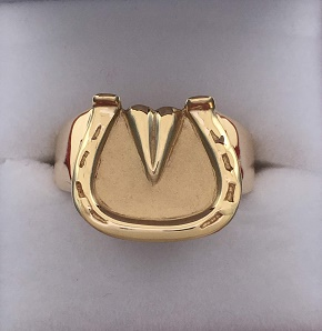 Men's Scotch Bottom Horseshoe Ring