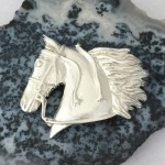 Horse Head with Streamers Pendant