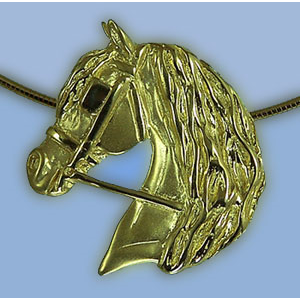 Driving Head with Wavy Mane Pendant