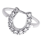 JM4357 Horseshoe ring with Diamonds