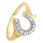 JM4543 Fancy Diamond Horseshoe Ring
