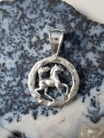 JM528/JET3116SS Arabian Foal In Circle Pendant