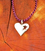 JM597SSCO Star In Heart Pendant
