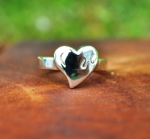 JM606SS Hoof Print on Heart Ring
