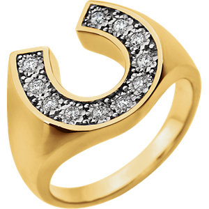 JM651623 14kt Two-Tone Diamond Men's Ring