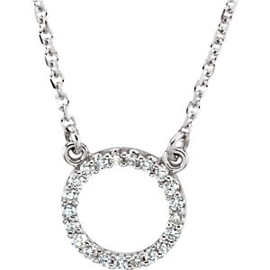 JM66417 Diamond Halo Necklace
