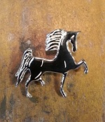 Polly Saddlebred Pendant - Sterling Silver