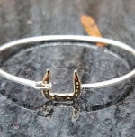 JM696BGS Scotch Bottom Horseshoe Bangle Bracelet