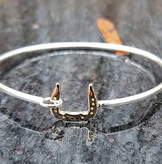 Scotch Bottom Horseshoe Bangle Bracelet
