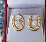 JM783J 14kt Yellow Gold Saddle Shoe Earring Jackets