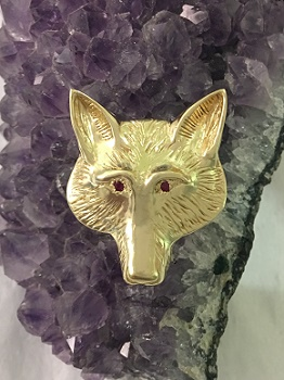 Custom 26 Fox Head Pendant