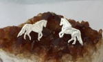 M1002ERSS Sterling Silver Paso Fino Horse Earrings