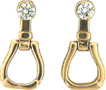 M1010JER Western Stirrup Earrings