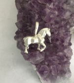 M2192SS Sterling Silver 3 Dimensional Draft Horse Pendant
