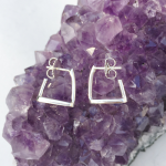 Cut Out Stirrup Earrings