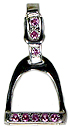 JET3808SSPCZ English Stirrup with Pink CZ
