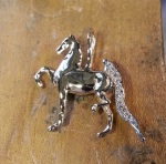 Jeweled Three Gaited Saddlebred Pendant