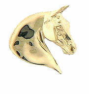 JET3320 14kt Yellow Gold Saddlebred Pendant