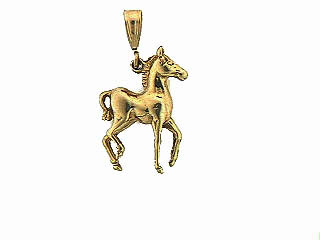 M667 Little Filly Horse Pendant