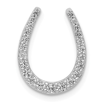 PM5148-025-WA   14kt White Gold Diamond Horseshoe Penadnt