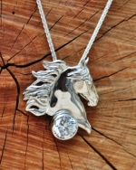 All Ears Saddlebred Head Pendant