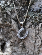 Horseshoe with Cubic Zirconia