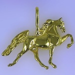 JET3254 14kt Yellow Gold Tennessee Walking Horse